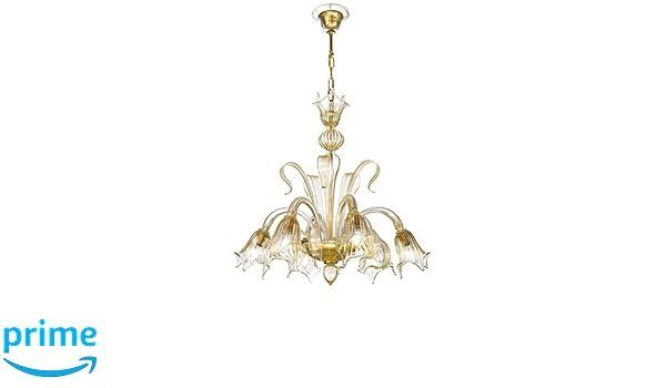 Rossini illuminazione floral lampadario vetro di murano e w