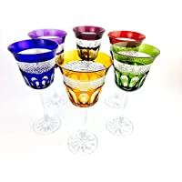 Verres à vin en cristal Klein Baccarat handmade, Service 6 verres (20 cl), verres Roemer, signés Cristal Klein 54120 Baccarat, idée cadeaux.