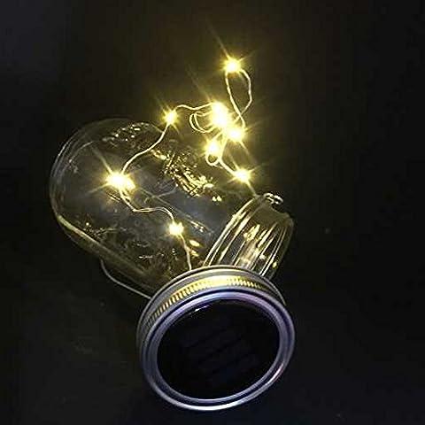 Solar Jar Lid, 2 Pcs Solar Mason Jar Lid Insert