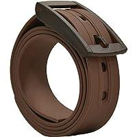PlugBelt Marron- Cinturon de golf para hombre, silicona, unitalla, biodegradable, resistente y libre de metales.