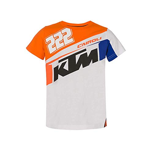 Vr46 Cairoli-KTM, Tshirt Unisex Bambini, Arancione, 12/14