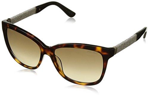 Jimmy Choo Damen CORA/S JD FA5 56 Sonnenbrille, Schwarz (Hvn Glitter Bk/Brown Sf),