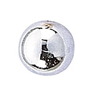 Knorr Prandell Gütermann 6052045 - Perlas (4 mm, 80 Unidades), Color Plateado