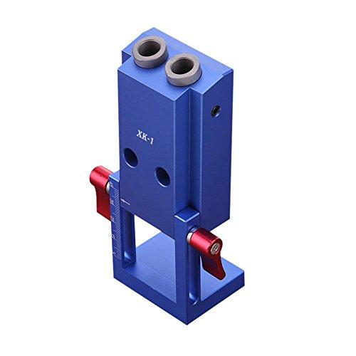 NELNISSA Pocket Loch Jig Kit System Holz Arbeiten Schreinerei Werkzeug Set w/Schritt Bohrer -