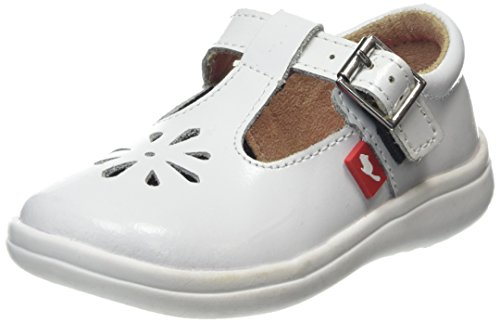 Chipmunks Girls' Trixie Mary Janes, White (White), 7 Child UK 24 EU