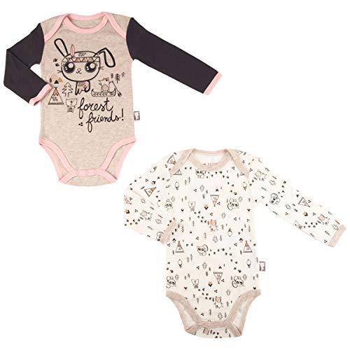 Lot de 2 bodies bébé fille manches longues Forest Friend - Taille - 24 mois (92 cm)