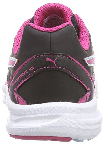 Puma Descendant SL v3 Jr, Sneakers basses mixte enfant Noir - Schwarz (black-beetroot purple-clearwater 06)