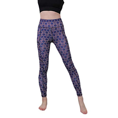 HCFKJ Pantalones De Yoga Mujer Leggins Impreso para Mujer Bolsillos De Camuflaje Ajuste De Cadera Correr Fitness Fitness Pantalones De Yoga