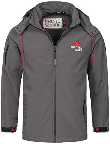 Arctic Seven Herren Designer Softshell Funktions Outdoor Regen Jacke Sport AS087 [AS-087-D