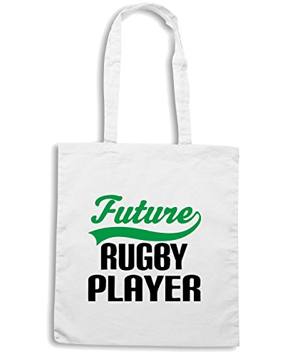 T-Shirtshock - Borsa Shopping TRUG0014 future rugby player kids logo Bianco