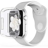 Babacom Coque Apple Watch Series 4 (44mm), iWatch 4 Protection Ecran [Couverture Complète] [Ultra Transparent] [Découpes Précises] Film Protection en TPU Souple pour Apple Watch Series 4 (Clair)