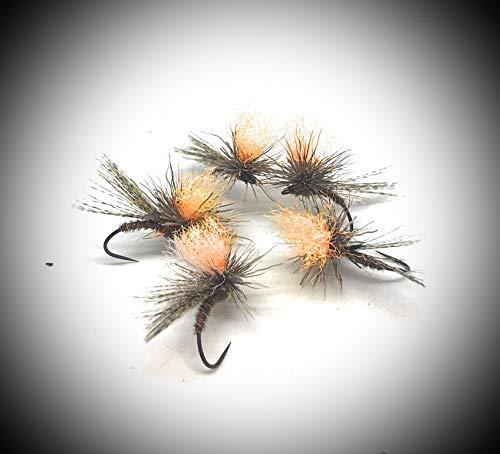 Maximal Clini: Roe Parachute Orange Hi Vis 12/14/16, in 9er Packung von DREI Größen, gefertigt auf koslovacchischen Bars, gemäß FIPS MOUCHE -