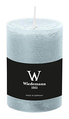 Wiedemann Marble Kerze durchgefärbt ASF, Wachs, Eisblau, 10 x 6.8 cm, 8-Einheiten