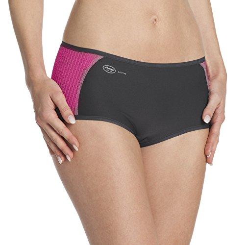 Anita Active Damen Sport-Panty Sportunterhose, Mehrfarbig (pink/anthrazit 588), Herstellergröße: 46 -