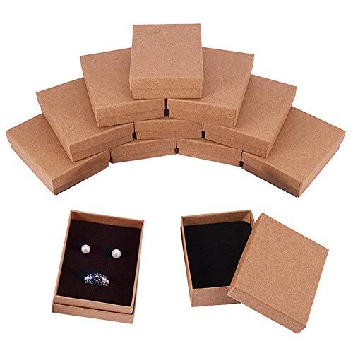 BENECREAT 12 Pack Cajas Cartón Collar 9x7x3cm Pequeña