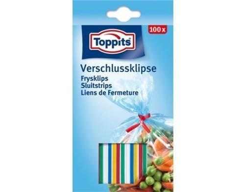 5 x Toppits® Verschluss - Klipse (100 Stück / Gefriersicher bis -40°C)