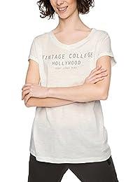 ESPRIT Sports Damen Casual Sports Slub T-Shirt