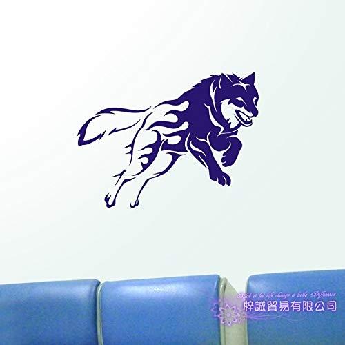 yiyiyaya Wolf Wall Sticker Wolf Decal Poster Vinyl Wall Art Decalcomanie Sticker Decal Decor Murale Wild Animal Sticker 40x54m