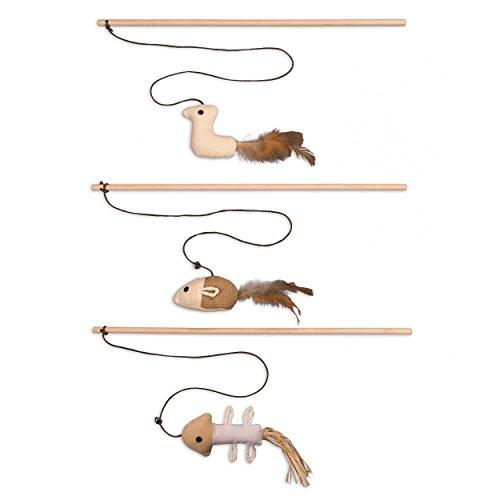 Katzenspielzeug Katzenangel Spielangel Spielmaus