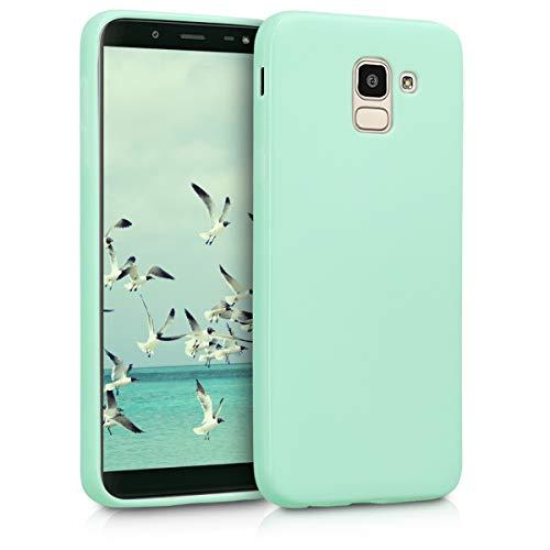 kwmobile Samsung Galaxy J6 Hülle - Handyhülle für Samsung Galaxy J6 - Handy Case in Mintgrün matt