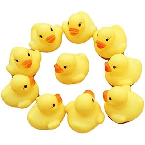 Ularma Una Dozzina Di Ducky Duckie Baby Shower Favori Di Compleanno (12) Di Gomma