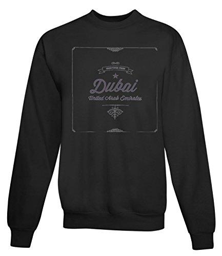 Billion Group | Greetings From Dubai United Arab Emirates | City Collection | Women's Unisex Sweatshirt Nero Small