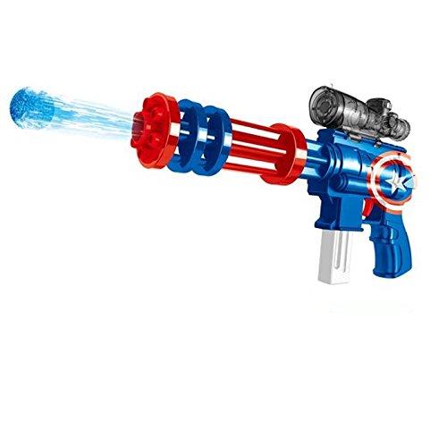 Weddecor 2 in 1 Powerful Water Gun 15m Long Range Target Practice Kit for Kids & Adult Water Crystal Beads Ball & Foam Dart Gift (Blue)