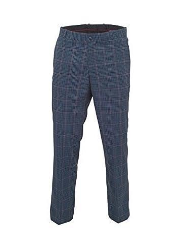Homme Relco Classique Bleu Tweed Reste Press Pantalon - 42 standard