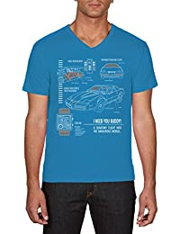 Touchlines Kitt Blaupause Knight, T-Shirt Homme