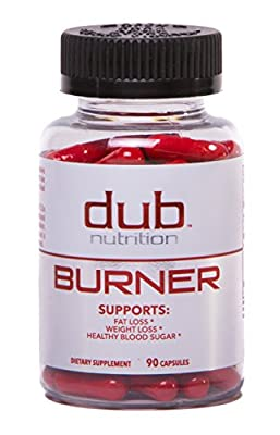Fat Burner by dub Nutrition | Best Weight Loss Pills Thermogenic Supplement | Natural Energy and Appetite Suppressant, Rasberry Ketones, Guarana, and BCAA. Healthy Blood Sugar Level. For Men and Women by Dub Nutrition