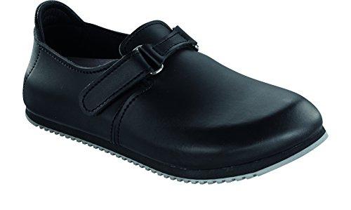 Preisvergleich Produktbild Birkenstock 583184-42-normales Fußsbett Superlauf-Berufsschuh LINZ Naturleder SCHWARZ Gr. 42 Fußbett