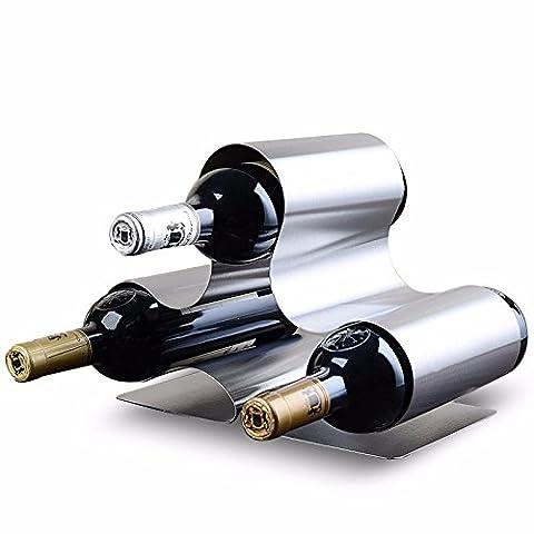 Edelstahl Weinregal Wein Regale mit Teil 5 Edelstahl, Edelstahl (Stapelbare Teile)