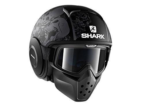 Shark - Casco da moto, modello: DRAK SANCTUS, taglia: M, di colore nero