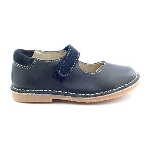 Boni Emilie - chaussure fille à scratch Bleu Marine