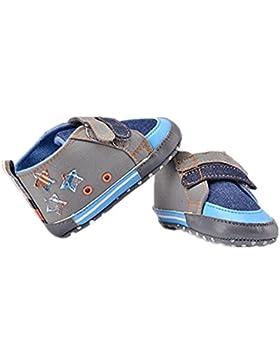 Zapatos de bebé imitación vaquero estrellas lona zapatos de suela suave