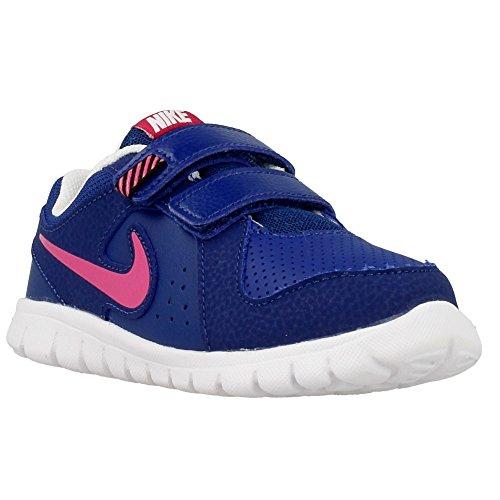 Nike Flex Experience LTR (TDV), Chaussures pour Nouveau-Né Bébé Fille - Multicolore - Bleu/Rose/Blanc (Bleu Insigne/Rose Vif - Blanc), 27 EU