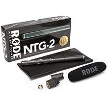 Rode NTG2 - Micrófono externo para videocámara Rode DS1/RM5/SM3/PG 2, color negro