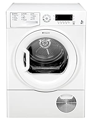 Hotpoint FTCD871GPY Freestanding A+ Rated Condenser Tumble Dryer - White by AO