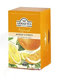 Ahmad Tea Mixed Citrus Infusion, Ahmad Mixed Citrus Infusion, 20-Count Tea Bags (Pack of 6)