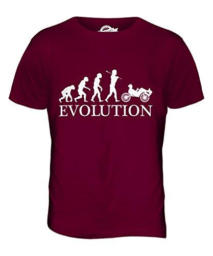 CandyMix Liegerad Evolution Des Menschen Herren T Shirt, Größe X-Large, Farbe Burgunderrot
