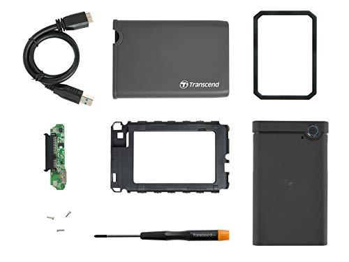 """Transcend StoreJet 25CK3 2.5\"""" SATA III SSD/HDD Leergehäuse-Kit USB 3.1 Gen 1 TS0GSJ25CK3"""