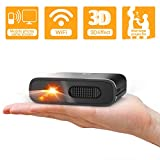 Mini Projector - Artlii Portable DLP 3D Outdoor Projector Rechargeable Battery for Propose