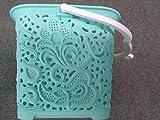 Korb für Wäscheklammern, rechteckig, mit Henkel für Transport/ Aufhängung, Blau