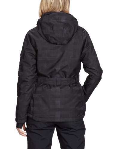 Killtec Kirsti Veste fonctionnelle avec capuche amovible et jupe de protection contre la neige pour femme schwarz/koralle