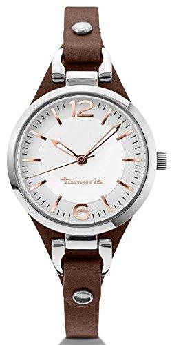 Tamaris - B02012010 - Montre Femme - Quartz - Analogique - Aiguilles lumineuses - Bracelet cuir Marron