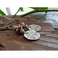 ♥ DISCO ROBUSTO ROBUSTO & LEGNO FUSO ♥ piccoli orecchini con legno