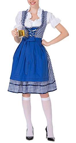 LCXYYY Damen Kostüme Elegant Sexy Retro Dirndlkleid Rüschen Bluse Korsage Costumes Trachtenkleid...