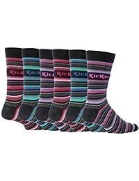 6 Paires Kickers - Chaussettes basses - - À rayures Homme Multicolore, 39-45 eur - Marais K37