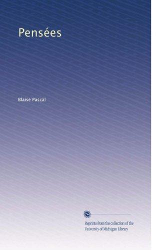 Pensées (Volume 3) (French Edition)
