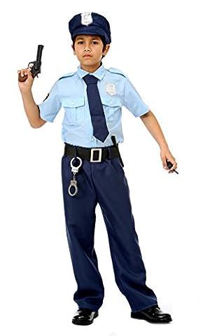 Polizei Kostüm für Kinder Deluxe - komplettes Polizei Uniform Kostüm für Kinder Jungen - Polizist Kostüm Kinder